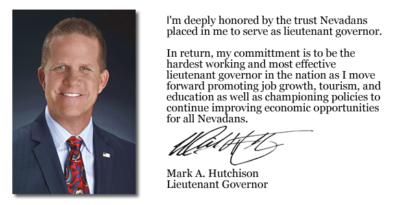 Mark A. Hutchison - Lt. Governor